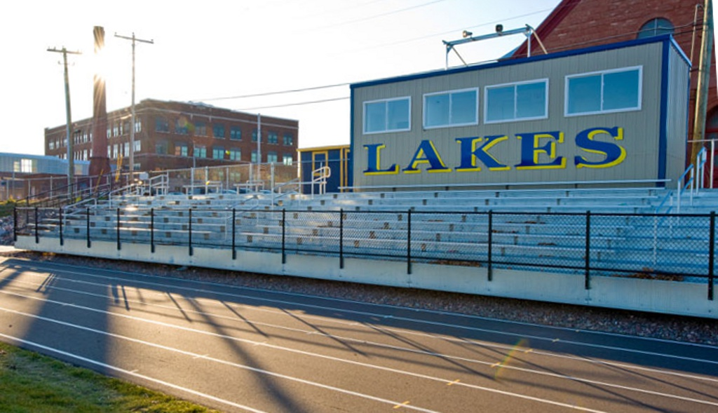 Lake Linden Warner Field Stands