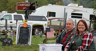 Lori and Leo Constine spent time as volunteer campground hosts in Hartwick Pines State Park this past fall helping campers, answering question and taking part in the annual fall Harvest Festival./